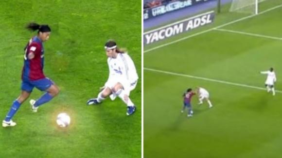 10 минути футболна магия с Роналдиньо (видео)