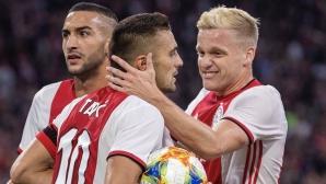 Аякс елиминира ПАОК след три дузпи и голова фиеста в Амстердам (видео)