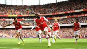 Арсенал 2:1 Бърнли, Лаказет откри резултата, но Ашли Барнс изравни  (гледайте тук)
