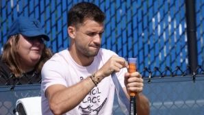 Григор Димитров тренира комбинации в Ню Йорк (видео)