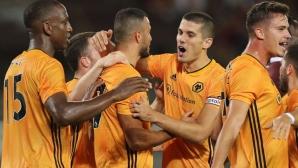 """""""Вълците"""" показаха голова мощ в Торино и спечелиха дербито от плейофите в Лига Европа"""