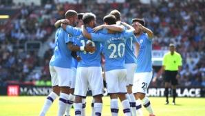 Страхотен гол на играч на Ливърпул не спря Сити, Агуеро и Стърлинг продължават да бележат (видео)