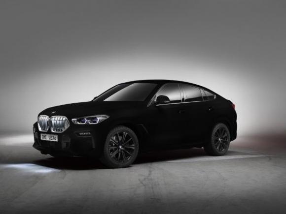 Новото BMW X6 като впечатляващ Showcar: първият автомобил в света с Vantablack