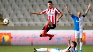 ПСВ Айндховен си направи гореща разходка в Кипър и взе плейофа със 7:0