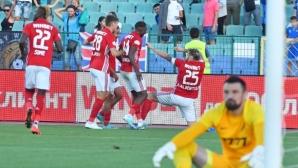 ЦСКА-София възкръсна и спря Левски в луд мач (видео)