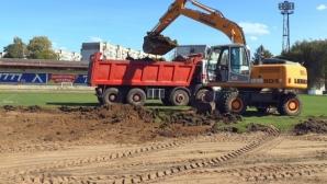 Левски продължава мащабния ремонт на тренировъчната база