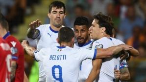Италия се поизмъчи с десетима от Армения, но продължава убедително в Група J