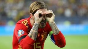 Испания потрепери в Букурещ, но продължи безупречния си ход (галерия)