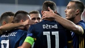 Босна и Херцеговина прегази Лихтенщайн с четири гола за десет минути