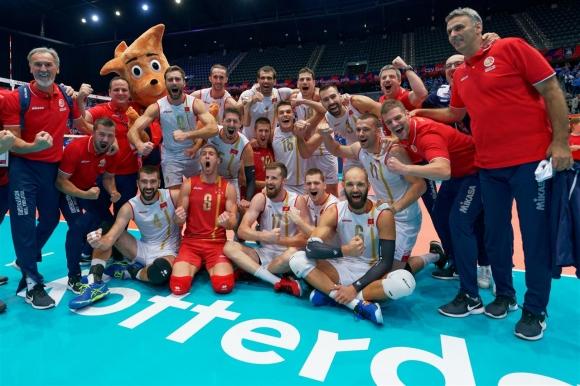 Черна гора с историческа първа победа на Евроволей 2019 (снимки)