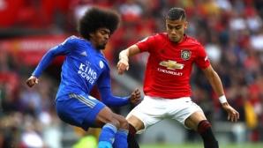 Ман Юнайтед постигна мъчна победа над Лестър, Рашфорд вкара дузпа