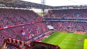 12 души бяха ранени при индицент на трибуните в мач от Бундеслигата