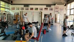 Националите с тренировка във фитнеса в почивния ден (снимки)