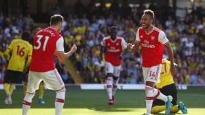 Уотфорд 0:2 Арсенал, Обамеянг с два гола (гледайте тук)