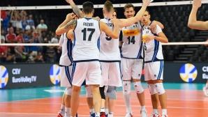 Италия също продължава напред на Евроволей 2019 след победа над Румъния (снимки)