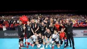 Белгия излъга Германия в петгеймова драма на Евроволей 2019 (снимки)