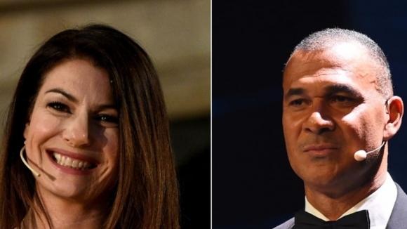 Рууд Гулит и приятелката на Буфон водещи на церемонията на ФИФА