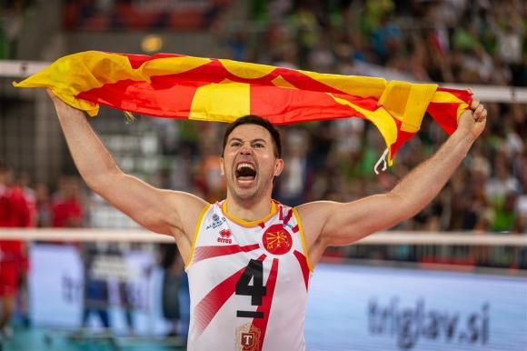 Северна Македония изненада Словения в Любляна и голям шанс за 1/8-финал на Евроволей 2019 (снимки)