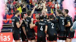 Белгия с лесна победа над Словакия за 4 от 4 на Евроволей 2019 (снимки)