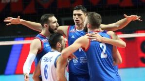 Сърбия продължава на 1/4-финал на Европейското след победа над Чехия (снимки)