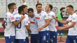 Хайдук поведе в Хърватия след победа срещу тима на Боби Цонев (видео)