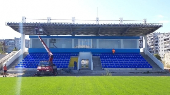 Ето как изглежда новата трибуна на стадион