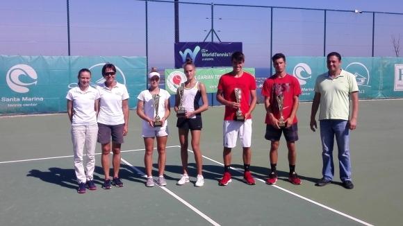 Васил Димитров и Денислава Глушкова са шампионите на международния турнир до 18 години в Санта Марина