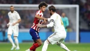Реал Мадрид запази върха след здрава битка с Атлетико (видео+галерия)