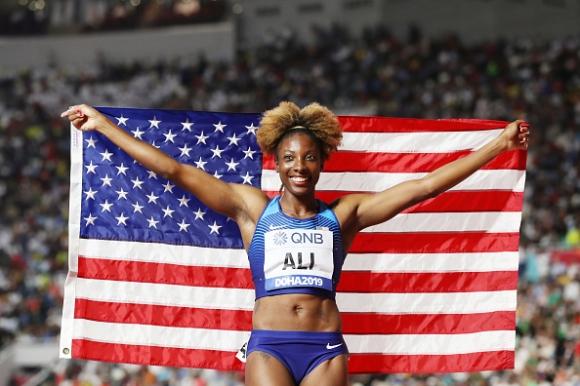 Ниа Али триумфира на 100 метра с препятствия с личен рекорд