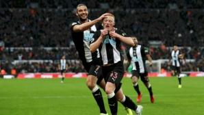 Гол на дебютант остави Манчестър Юнайтед на две точки от зоната на изпадащите (видео)