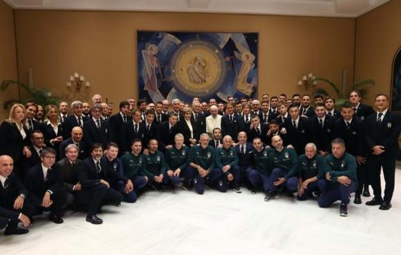 """Скуадра адзура"" гостува на папата"