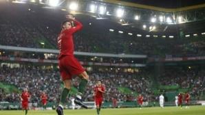 Португалия с класика над Люксембург, Кристиано все по-близо до юбилеен гол (видео)