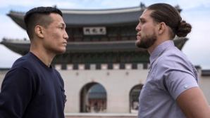 Ортега срещу Чан Сун Джун лице в лице преди UFC Fight Night 165