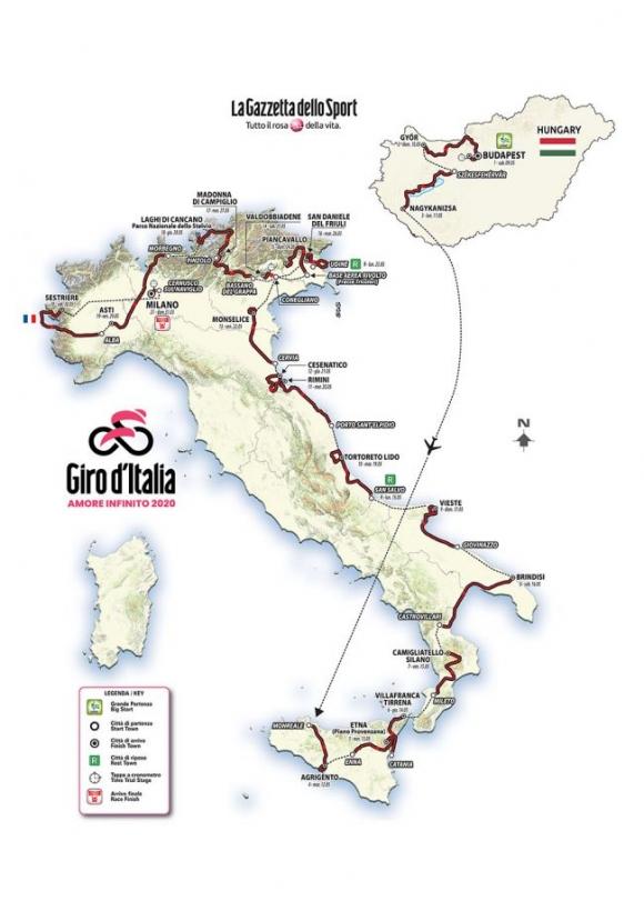 Обиколката на Италия стартира от Унгария