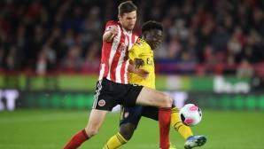 Арсенал остана извън топ 4 след загуба от Шефилд Юнайтед