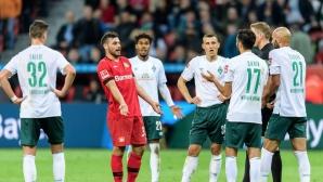 Четири гола и дискусионно решение на ВАР в последната минута белязаха Леверкузен - Вердер