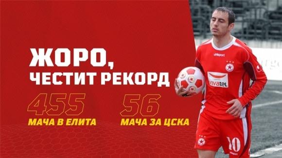 ЦСКА 1948: Честит рекорд на Жоро! Горди сме, че помогна и на ЦСКА