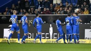 Хофе отказа Падерборн с бързи три гола (видео)