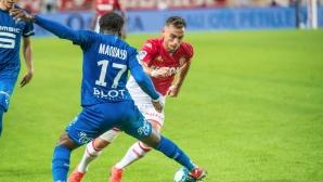 Футболист на Монако буквално срита ВАР след червен картон (видео)