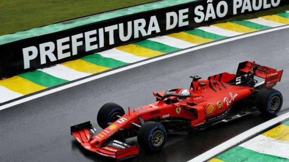 Ферари най-бързи във втората тренировка в Бразилия