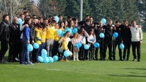 """Деца и младежи с диабет станаха част от благотворителната програма """"Заедно за отбора"""" на БФС и """"Докосни дъгата"""""""