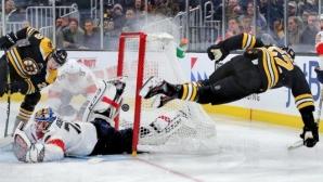 Флорида надви Бостън с обрат в края, Александър Георгиев спаси 30 удара при победа на Рейнджърс