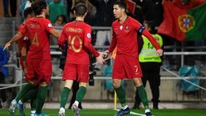 Хеттрик на Кристиано Роналдо за 6:0 доближи Португалия до голямата цел (видео)