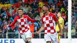 Хърватия подпечата билета си за Евро 2020 с обрат срещу Словакия (видео)