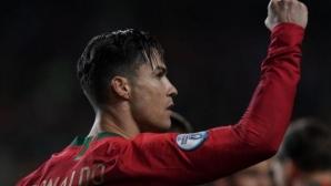 Роналдо с рекорд по голове за Португалия
