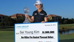 Южнокорейка спечели най-големия чек в историята на женския голф