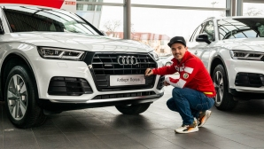 Алберт Попов, Радо Янков и Владимир Зографски получиха подаръци от Audi