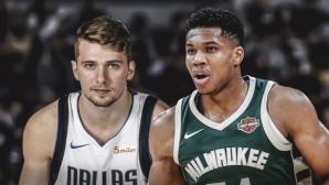 Адетокумбо и Дончич са играчи на месеца в НБА