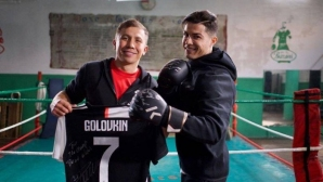 Головкин и Роналдо с общ проект за DAZN (снимки)