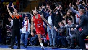 Кош със сирената в продължението донесе победа на ЦСКА Москва в Евролигата